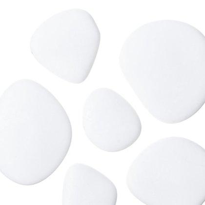 Dekoratīvie akmeņi, balti